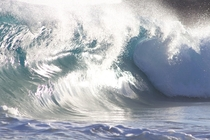A bumpy wave at Sandys Oahu Hawaii