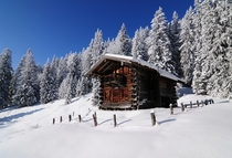 A cabin in the Alps  Photographed by MrBones