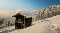 A cabin in the Bavarian Alps  Photographed by Robert Schller