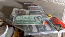 A Canadian Centennial Dollar bill found in excellent condition in an abandoned house in Ontario oc