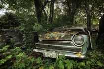 A car graveyard near Berlin  by Stefan Baumann