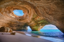A cave situated in the Algarve near Lagoa and only accessed by sea Photo by Bruno Carlos
