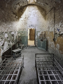 A cell in Eastern State Penitentiary in Philadelphia