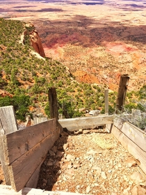 A chute to nowhere at Abandoned Uranium Mine in Arizona