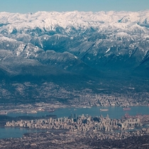 A city on the edge of civilization - Vancouver Canada on New Years Eve