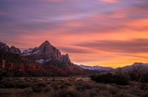 A Classic Sunset at Zion National Park  xjjon