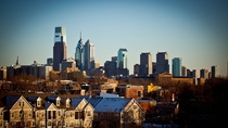 A clear winter afternoon in Philadelphia