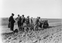 A Cleveland Tractor Co Oliver Tractor in being demonstrated in France  x-post rHI_Res