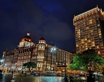 A click of the iconic Taj Mahal hotel in Mumbai India once upon a time during a rainy day