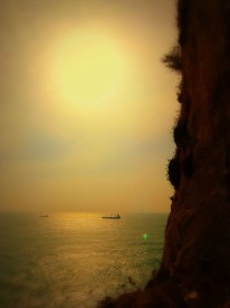 A Cliff of Gibraltar amp the Mediterranean Sea Behind x