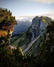A cliff of the austrian mountain Loser