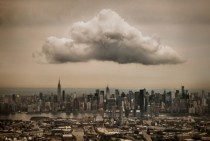 A cloud over Midtown Manhattan