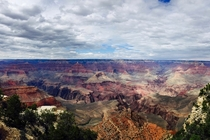 A cloudy day at the Grand Canyon AZ