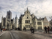 A cloudy day in Ghent Belgium