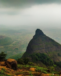 A cloudy day near Tiger Point Lonavala Maharashtra India  x