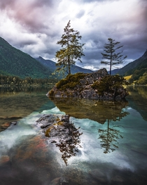 A cloudy evening at Hintersee Germany