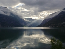 A cloudy morning in Eidfjord Norway