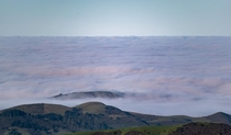 A Cloudy Morning Over The Pacific - Skyline Boulevard in Portola Valley CA