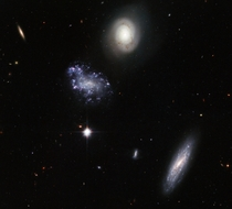 A clump of galaxy misfits