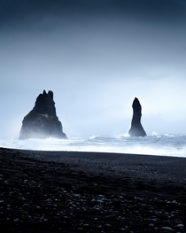 A cold and windy day on Reynisfjara Beach in Iceland  IG jakesnave