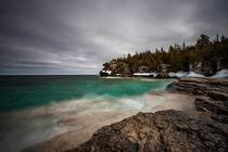 A cold damp and icy March day in Bruce Peninsula National Park Ontario Canada   brendancane