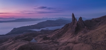 A cold sunrise over the Old Man of Storr Skye