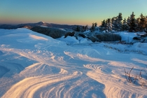 A cold windy and beautiful sunrise Adirondack Mountains NY