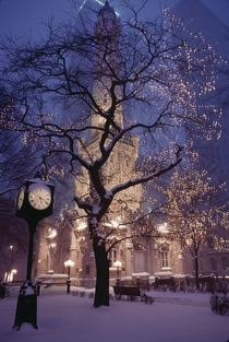 A cold Winter night in Chicago