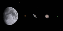 A collection of solar system objects Ive photographed with my telescope over the last year