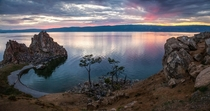 A colorful sunset on Lake Baikal Russia  photo by Oleg Kosenkov