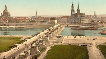 A coloured photo of pre-war Dresden Germany  years ago today WW ended in Europe Never again lads