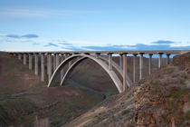 A concrete arch bridge in Eastern Washington US