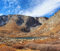 A cool crisp late-autumn day at Chicago Lakes in Colorado USA