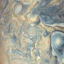 A crazy new image of Jupiters cloud tops as seen by NASAs Juno spacecraft  Image NASA  SwRI  MSSS  Gerald Eichstdt  Sen Doran