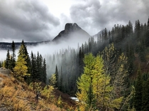 A crisp autumn day in Glacier National Park