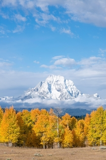 A crisp fall day in Grand Teton National Park Wyoming