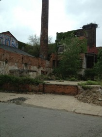 A crumbling factory in downtown Cleveland OH