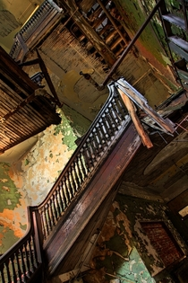 A crumbling staircase at the Bethlehem steel plant in Lackawanna New York By Jonathon Much