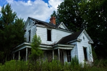 A decaying house outside Faison North Carolina