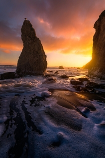 A departing storm brings great light to El Matador Beach - Malibu CA