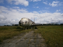 A derelict airplane in Iquitos Peru