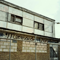 A derelict pub The Mermaid Inn in Jaywick Sands Essex UK