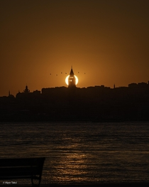 A deserted Istanbul sunset