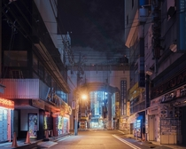 A deserted Tokyo at night  By Franck Bohbot