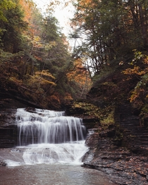 A different angle of Buttermilk Falls New York