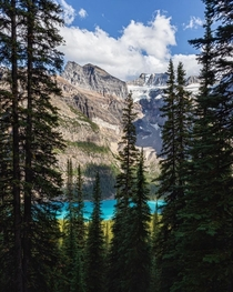 A different angle of Moraine Lake Alberta Hiking up to Sentinel Pass