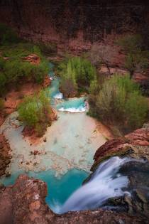 A different perspective of the the famous Havasu Falls Havasupai AZ  IGandrewsantiago_
