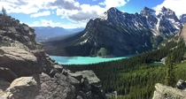 A different view of Lake Louise than usually posted here From the path up to Little Beehive
