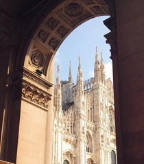 A different view of the Duomo in Milan Italy
