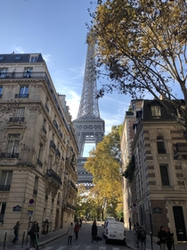 A different view of the Eiffel Tower in Paris France